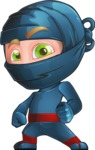 Ninja Warrior Cartoon Vector Character AKA Toshi - Normal