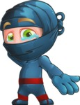Ninja Warrior Cartoon Vector Character AKA Toshi - Sorry