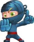 Ninja Warrior Cartoon Vector Character AKA Toshi - Stop 2
