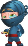 Ninja Warrior Cartoon Vector Character AKA Toshi - Sad 2