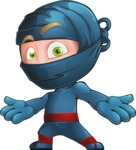 Ninja Warrior Cartoon Vector Character AKA Toshi - Shocked