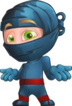 Ninja Warrior Cartoon Vector Character AKA Toshi - Lost