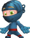 Ninja Warrior Cartoon Vector Character AKA Toshi - Lost 2