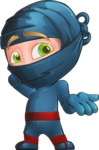 Ninja Warrior Cartoon Vector Character AKA Toshi - Oops