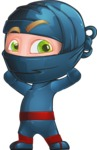 Ninja Warrior Cartoon Vector Character AKA Toshi - Patient