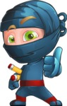 Toshi the Smart Ninja - Thumbs-Up