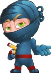 Ninja Warrior Cartoon Vector Character AKA Toshi - Bored 2