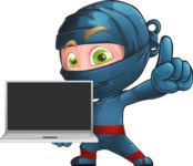 Toshi the Smart Ninja - Laptop 3