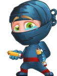 Ninja Warrior Cartoon Vector Character AKA Toshi - Under Construction 1