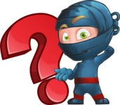 Ninja Warrior Cartoon Vector Character AKA Toshi - Question