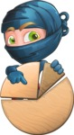 Ninja Warrior Cartoon Vector Character AKA Toshi - Chart