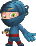Ninja Warrior Cartoon Vector Character AKA Toshi - Showcase 2