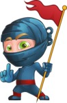 Ninja Warrior Cartoon Vector Character AKA Toshi - Checkpoint