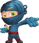 Ninja Warrior Cartoon Vector Character AKA Toshi - Show 1