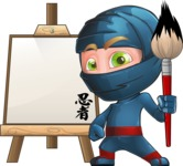 Ninja Warrior Cartoon Vector Character AKA Toshi - Artist