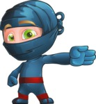 Ninja Warrior Cartoon Vector Character AKA Toshi - Show 2