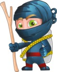 Ninja Warrior Cartoon Vector Character AKA Toshi - Travel