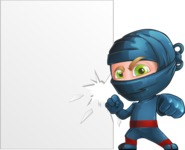 Ninja Warrior Cartoon Vector Character AKA Toshi - Presentation 3