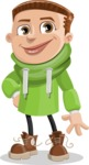 Boy with Hoodie Cartoon Vector Character AKA Hoody Cody - Normal