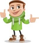 Boy with Hoodie Cartoon Vector Character AKA Hoody Cody - Point 2