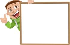 Boy with Hoodie Cartoon Vector Character AKA Hoody Cody - Presentation 5