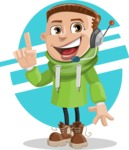Boy with Hoodie Cartoon Vector Character AKA Hoody Cody - shape6