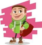 Boy with Hoodie Cartoon Vector Character AKA Hoody Cody - shape9