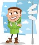 Boy with Hoodie Cartoon Vector Character AKA Hoody Cody - shape10