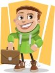 Boy with Hoodie Cartoon Vector Character AKA Hoody Cody - shape11