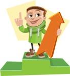 Boy with Hoodie Cartoon Vector Character AKA Hoody Cody - shape12