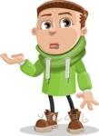 Boy with Hoodie Cartoon Vector Character AKA Hoody Cody - Sorry