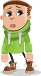 Boy with Hoodie Cartoon Vector Character AKA Hoody Cody - Sad