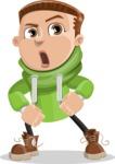 Boy with Hoodie Cartoon Vector Character AKA Hoody Cody - Angry