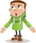 Boy with Hoodie Cartoon Vector Character AKA Hoody Cody - Lost