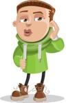 Boy with Hoodie Cartoon Vector Character AKA Hoody Cody - Duckface
