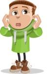 Boy with Hoodie Cartoon Vector Character AKA Hoody Cody - Confused