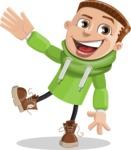 Boy with Hoodie Cartoon Vector Character AKA Hoody Cody - Hello