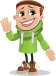 Boy with Hoodie Cartoon Vector Character AKA Hoody Cody - Oops