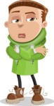 Boy with Hoodie Cartoon Vector Character AKA Hoody Cody - Patient