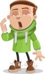 Boy with Hoodie Cartoon Vector Character AKA Hoody Cody - Bored 1