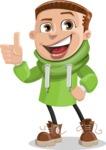 Boy with Hoodie Cartoon Vector Character AKA Hoody Cody - Thumbs Up