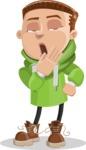 Boy with Hoodie Cartoon Vector Character AKA Hoody Cody - Bored 2