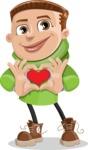Boy with Hoodie Cartoon Vector Character AKA Hoody Cody - Show Love