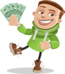 Boy with Hoodie Cartoon Vector Character AKA Hoody Cody - Show me the Money