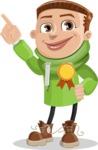 Boy with Hoodie Cartoon Vector Character AKA Hoody Cody - Ribbon