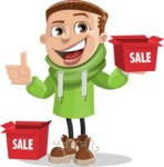 Boy with Hoodie Cartoon Vector Character AKA Hoody Cody - Sale 1