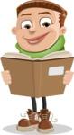 Boy with Hoodie Cartoon Vector Character AKA Hoody Cody - Book 1