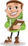 Boy with Hoodie Cartoon Vector Character AKA Hoody Cody - Book 3
