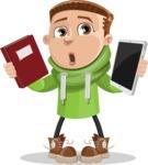 Boy with Hoodie Cartoon Vector Character AKA Hoody Cody - Book and iPad