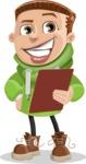 Boy with Hoodie Cartoon Vector Character AKA Hoody Cody - Notepad 2